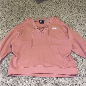 Nike hooded lace up sweatshirt